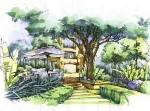 庭院景观设计图汇总图片