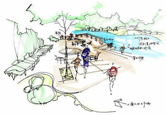 道路绿化(节点)概念性设计步骤举例