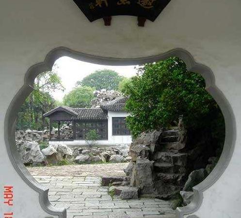 中式古典园林洞门设计工艺的形状分类总结