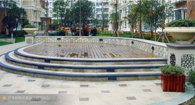 各式园路铺装大样图 某广场环境景观设计图
