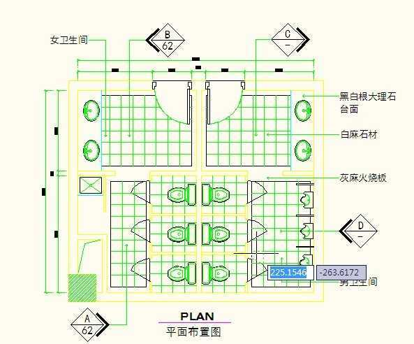 厕所CAD全套施工图