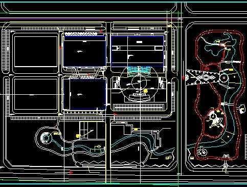 主题公园v图纸图纸免费下载电弱cad尺寸线图纸粗图片