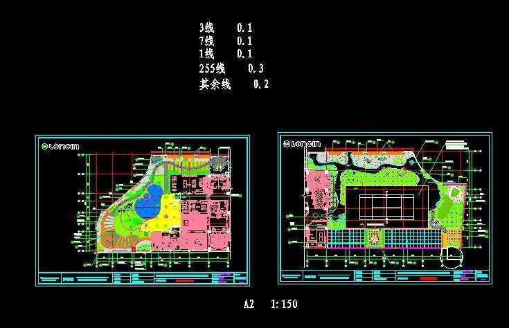 屋顶花园平面图免费下载