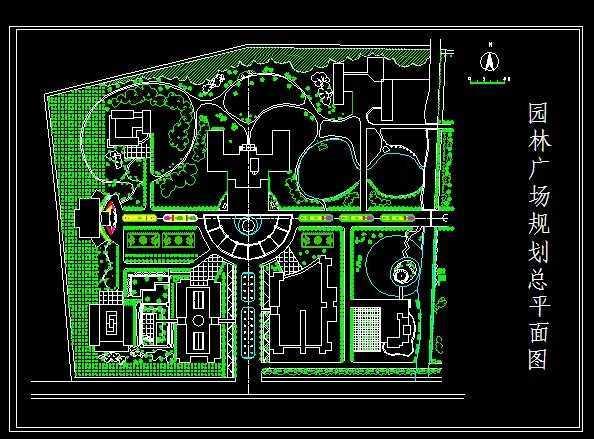 园林广场规划总平面图