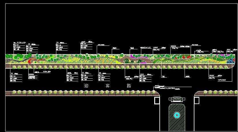 迎宾路绿化平面图