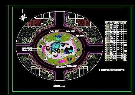 园林植物配置平面图免费下载