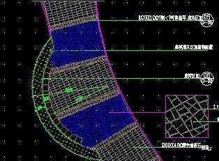 步行休闲道铺装平面图免费下载 道路地面铺装