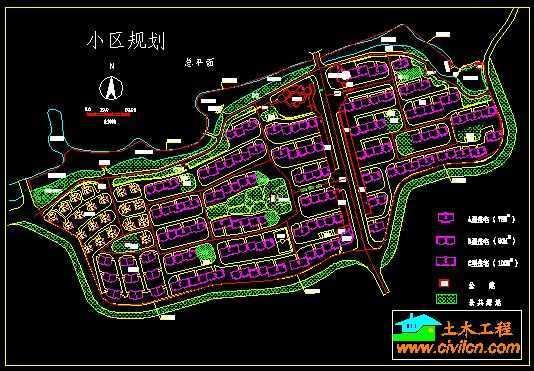 住宅小区规划平面图免费下载