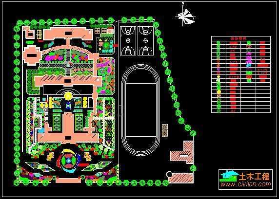 校园绿化规划设计平面图