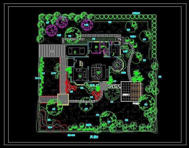 别墅私家花园设计图纸免费下载