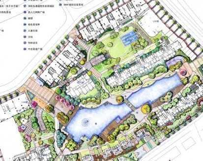 花园景观手绘扩初文本