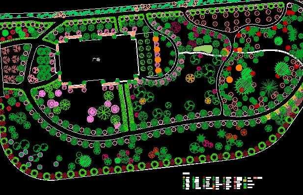 某游园种植设计平面图
