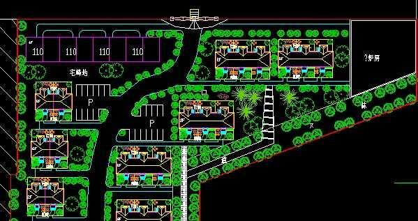 别墅小区总平面规划图纸