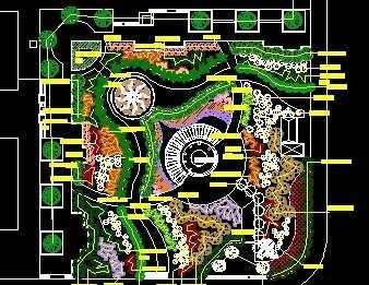 居住区小游园设计图纸免费下载图片