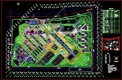某大学校园景观设计平面图