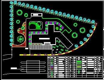 园林种植规划手绘平面图