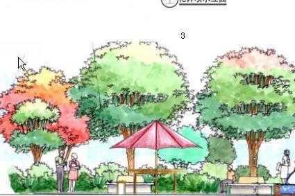 欧式别墅景观设计方案图免费下载