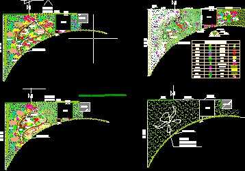 三角地带绿化方案图纸图片