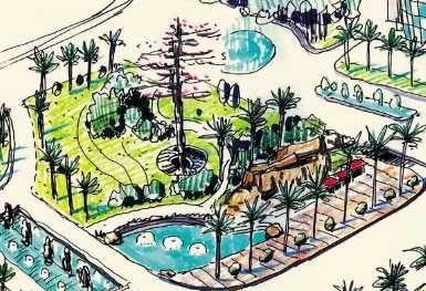 园林手绘效果图免费下载
