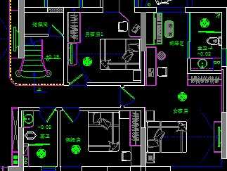 美国别墅户型图cad_两层别墅户型图CAD免费下载 - 别墅图纸 - 土木工程网