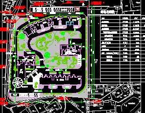 某住宅区绿化系统平面图免费下载