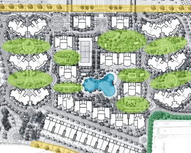居住区规划平面图免费下载图片