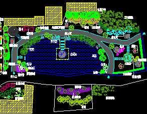 小游园绿化规划设计图免费下载图片