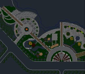 滨水绿化规划平面图免费下载