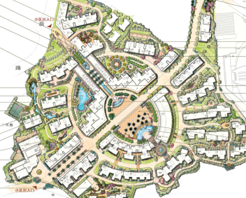 某住宅区景观扩初设计