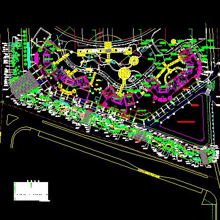 住宅小区园林绿化规划设计图免费下载