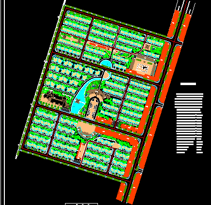 某大型住宅小区绿化规划设计图免费下载