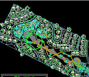 某别墅小区景观规划设计图纸免费下载