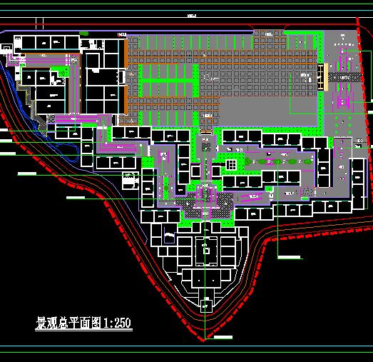 某公园广场铺装规划图及铺装大样图