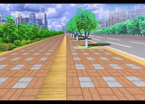 人行道铺装效果图 高清图片