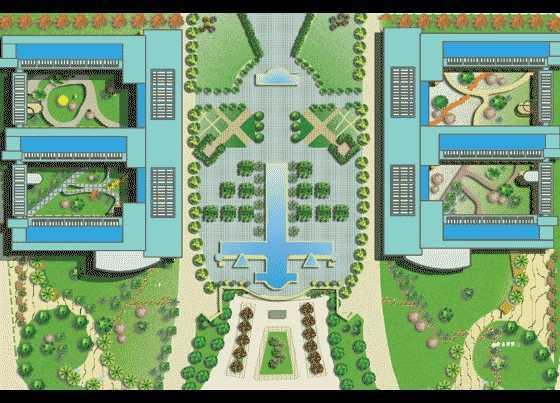 某校园景观设计总平面图