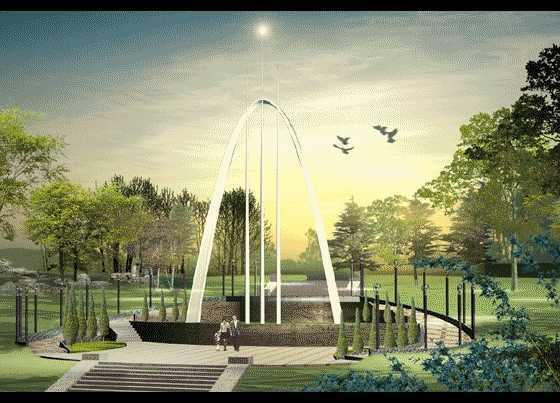 校园局部景观效果图免费下载 - 园林景观效果图图片