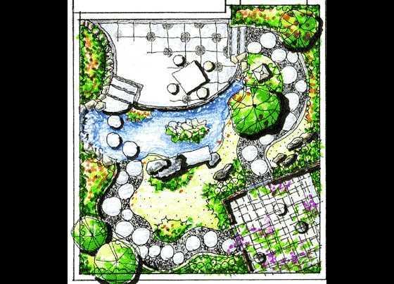 别墅手绘平面图免费下载