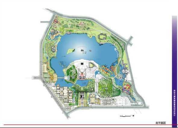 园林景观总平面图_园林景观cad平面图