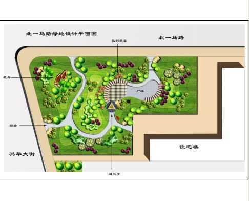 园林绿地景观手绘平面图