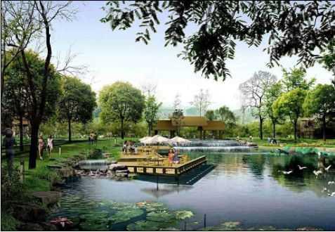某公园水景效果
