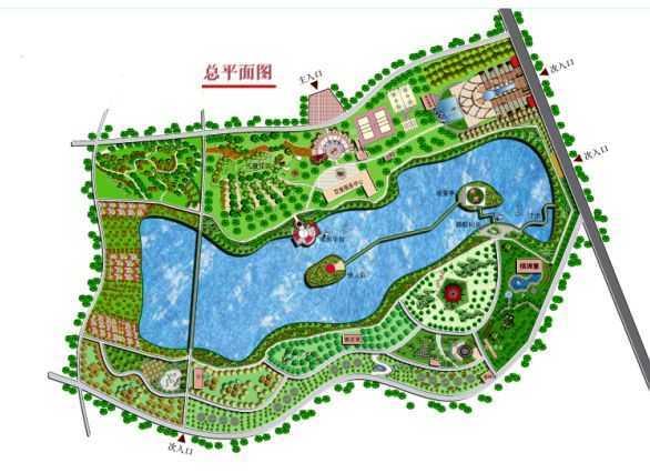 公园规划设计总平面图