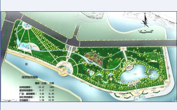 滨水绿地规划平面图图片