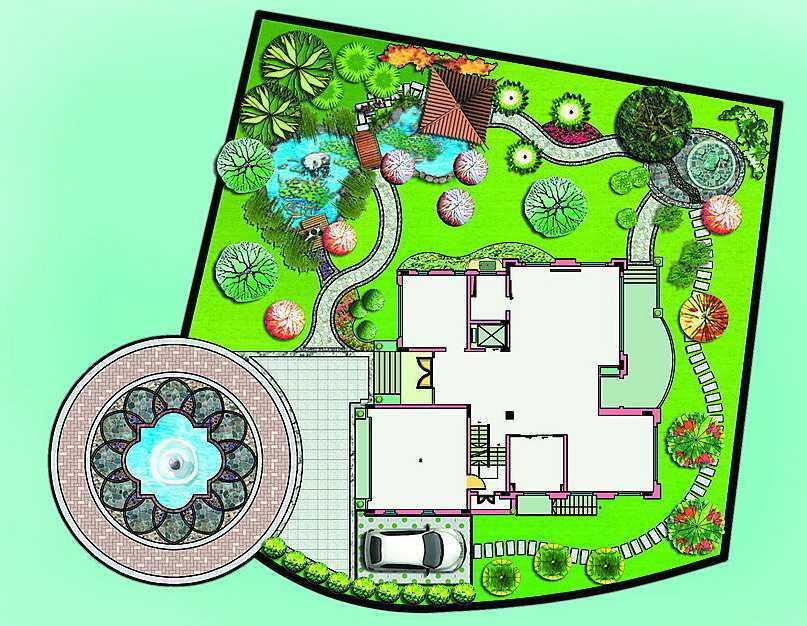绿化设计效果图免费下载 - 园林景观效果图 - 土木
