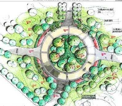 生态广场设计平面图