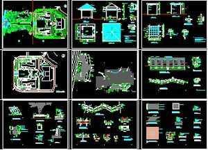 学院迷宫绿化工程景观图纸免费下载-园林景观全套图纸建筑图片