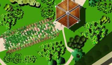 小庭院设计平面图_某小庭院设计平面图免费下载 - 园林景观效果图 - 土木工程网