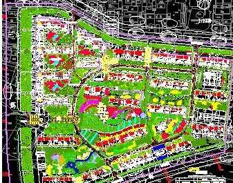 某住宅小区绿化平面图免费下载 园林景观效果图