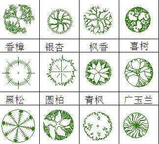 园林植物平面图例免费下载
