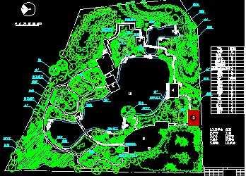 某公园总平面图免费下载