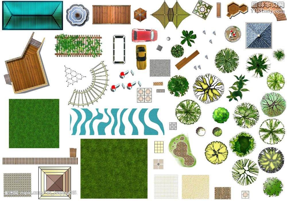 PS园林景观平面图素材免费下载 园林景观素材